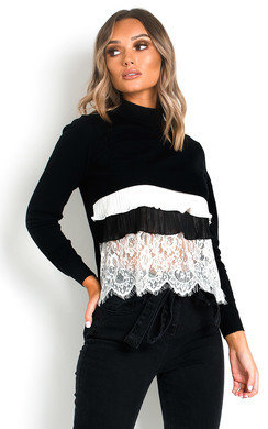 View the Henrietta Frill Shirt Hem Jumper online at iKrush