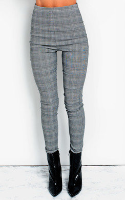 View the Hetty Highwaisted Checked Stretch Trousers online at iKrush