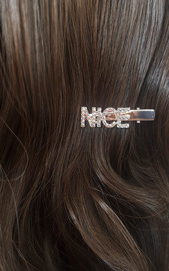 View the Hetty Slogan Diamante Sparkle Hair Clip online at iKrush