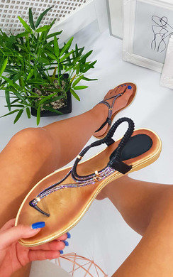 View the Hiliary Embellished T-Bar Wedged Sandal online at iKrush