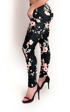 View the Holli Slim Floral Trousers online at iKrush