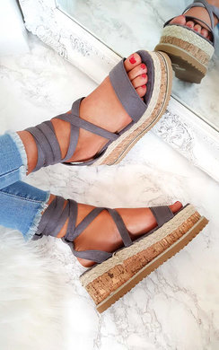 View the Hollie Lace Up Wedge Sandal online at iKrush