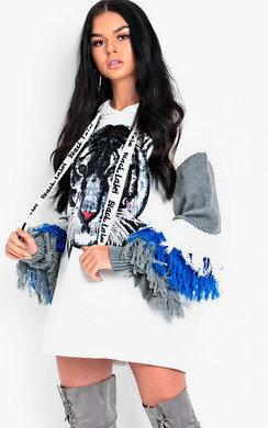 View the Hudson Fringe Embellished Oversized Jumper online at iKrush