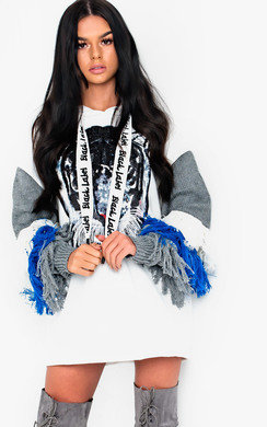 View the Hudson Fringe Embellished Oversized Jumper online at iKrush