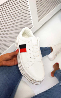 View the Iggy Flatform Embellished Trainers online at iKrush