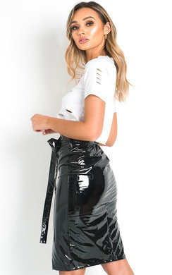 View the Iggy PVC Zipped Midi Skirt  online at iKrush
