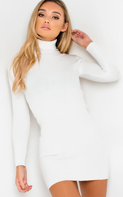 View the Iggy Roll Neck Jumper Dress online at iKrush