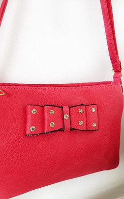View the Imogen Bow Detail Cross Body Handbag online at iKrush