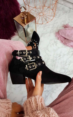View the Imogen Buckle Ankle Boots  online at iKrush