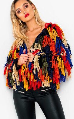 View the Imogen Shaggy Knit Cropped Jacket  online at iKrush