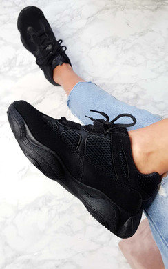View the Indigo Chunky Mesh Trainers online at iKrush