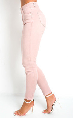 View the Irina Pink Skinny Jeans online at iKrush