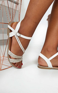 View the Iris Diamante Embellished Strappy Sandals online at iKrush