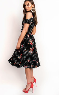 View the Isla Floral Wrap Midi Dress online at iKrush