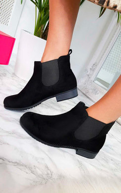 View the Ivy Faux Suede Ankle Boots online at iKrush