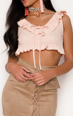 View the Ivy Frill Crop Top online at iKrush