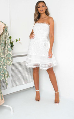 View the Ivy Sleeveless Sheer Crochet Dress online at iKrush
