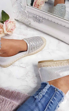 View the Izabel Diamante Embellised Espadrilles online at iKrush