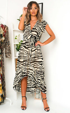 View the Izzy Zebra Print Maxi Dress online at iKrush