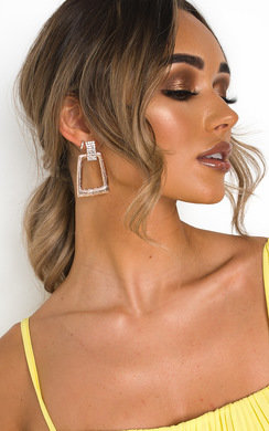 View the Janina Statement Diamante Drop Earrings  online at iKrush