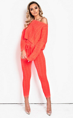 View the Jasmen Cable Knit Lounge Co-ord online at iKrush