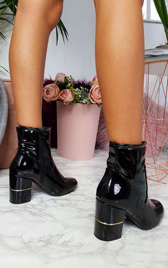 View the Jasmine Patent Heeled Ankle Boots online at iKrush