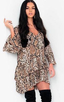 View the Jasmine Printed Smock Dress online at iKrush