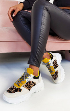 View the Jayla Chunky Textured Trainers online at iKrush