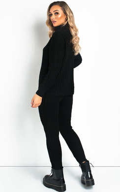 View the Jaz Cable Knit Polo Neck Lounge Co-ord online at iKrush