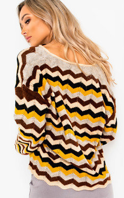 View the Jemah Knitted Zig Zag Jumper  online at iKrush