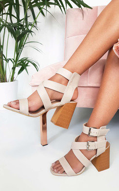 View the Jemma Cross Over Double Strap Heels online at iKrush