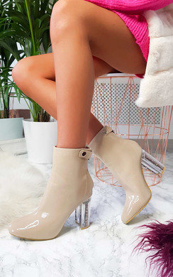View the Jemma Glitter Block Heel Ankle Boots online at iKrush