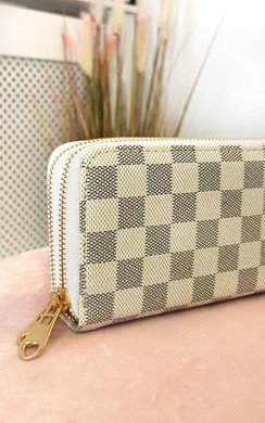 View the Jen Check Double Style Zip Purse online at iKrush