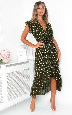 View the Jen Polka Dot Maxi Dress online at iKrush