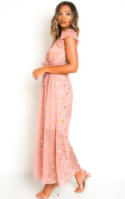 View the Jen Polka Dot Maxi Dress online at iKrush