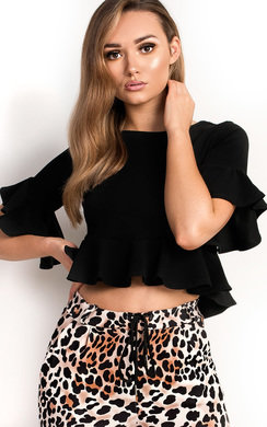 View the Jenah Frill Crop Top online at iKrush