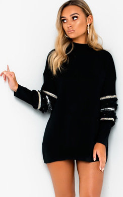View the Jeni Embellished Oversized Jumper online at iKrush