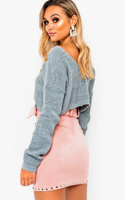 View the Jennah Plunge Back Knitted Jumper online at iKrush