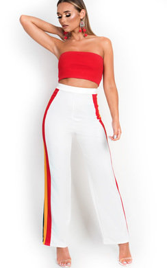 View the Jenni Side Stripe Wide Leg Trousers online at iKrush