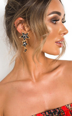 View the Jenni Star Drop Earrings  online at iKrush