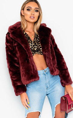 View the Jessie Faux Fur Jacket online at iKrush