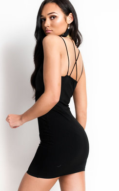 View the Jessie Strappy Bodycon Mini Dress online at iKrush