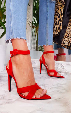 View the Jill Faux Suede Crossover Heels   online at iKrush