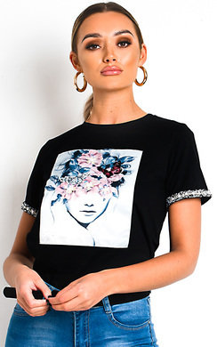 View the Jillian Embellished Graphic T-Shirt online at iKrush