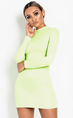 View the Jinny High Neck Mini Dress online at iKrush