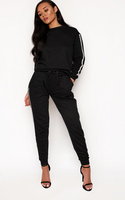 View the Joanna Diamante Stripe Tracksuit online at iKrush