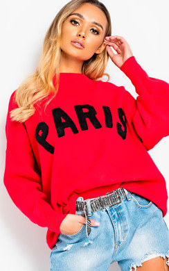 View the Jodi Slogan Oversized Jumper online at iKrush