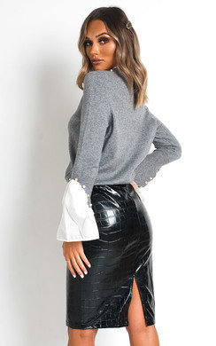 View the Jodie Ruffle Neck Shirt Jumper online at iKrush