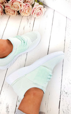 View the Jojo Shimmer Lace Up Mesh Trainer  online at iKrush