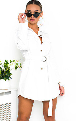 View the Jojo Tie Waist Shirt Dress online at iKrush